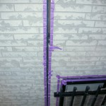 ⑤外壁塗装前にマスキング