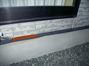 基礎・外壁接合部・下塗り
