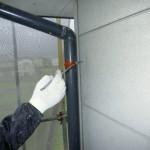 外壁排水管・下塗り