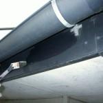 屋根排水管・下塗り