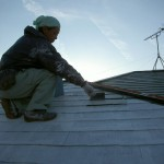 下塗り・屋根