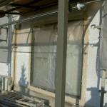 窓枠・外壁接合部から中塗り