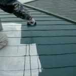 屋根中塗り・風景