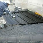 屋根塗装④中塗り