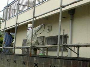 外壁洗浄1