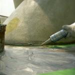 設置部分も防水・補強
