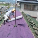 防水シート屋根接合部