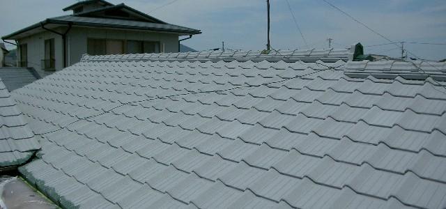 趣ある屋根瓦を活かしたまま防水強化・リユース